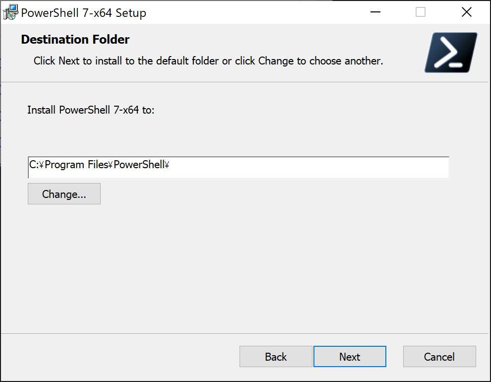 PowerShell Core 7のインストール